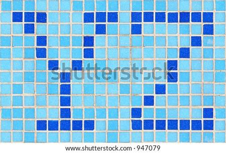 Alphabet ceramic tiles