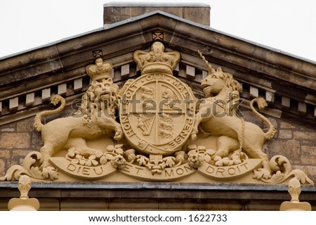 Court Coat of Arms - stock photo