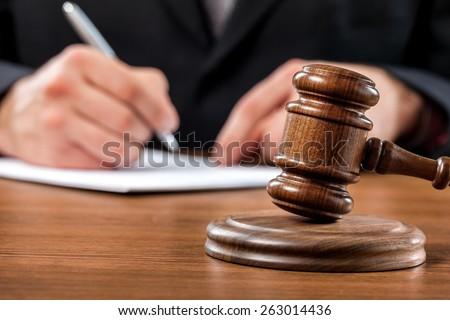 Court, courtroom, law. - stock photo