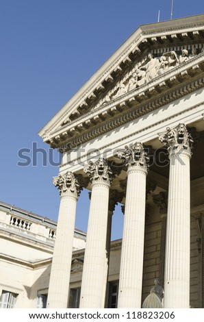 courthouse with pillars, justice symbol - stock photo