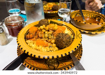 Couscous in Marseille - stock photo
