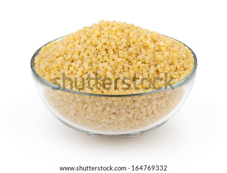 Couscous isolated on white background with clipping path - stock photo