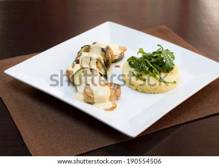 CousCous whit meat and vegetables - stock photo