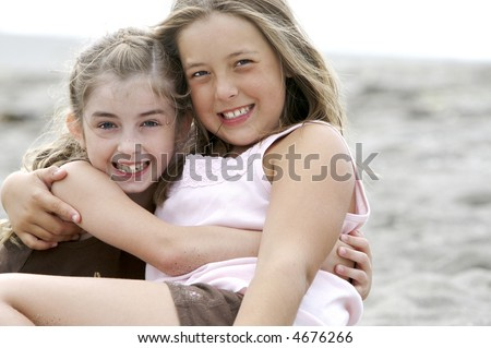Cousins are the best of friends - stock photo