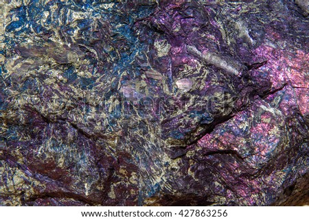 Covellite mineral background - stock photo