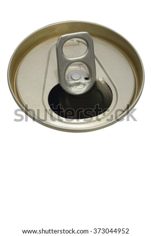 Cover beer can on white background.