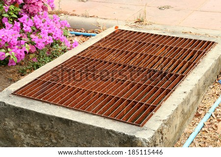 Cover drains - stock photo