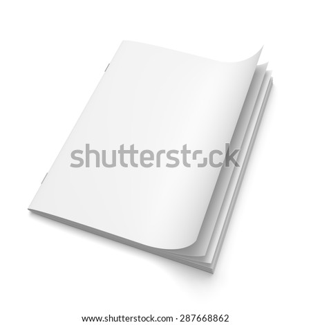 Cover empty magazine blank isolated on white background