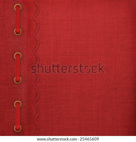 Cover for album with gold clip and braid - stock photo