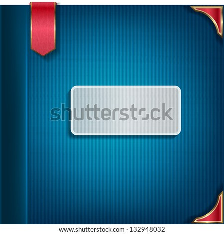 Cover for the book, notepad. Raster copy of vector image - stock photo