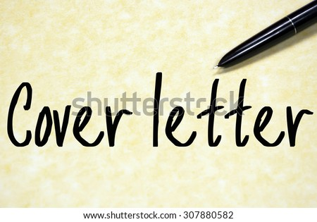 cover letter text write on paper  - stock photo