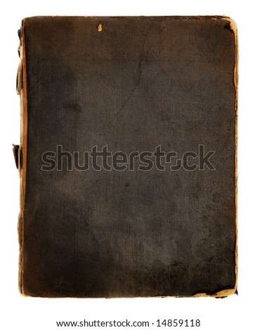 Cover of a very old book - stock photo