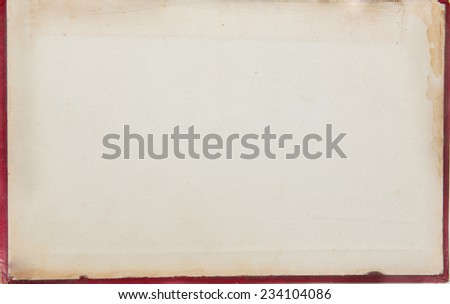 cover of the old book - stock photo
