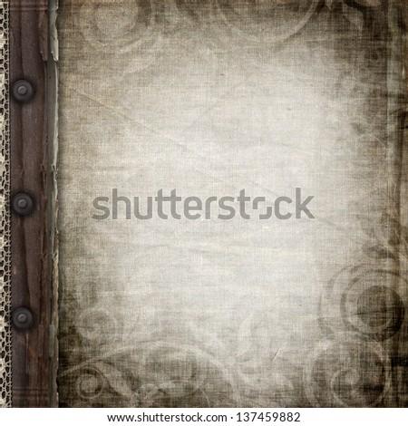 Cover  of vintage photo album - stock photo