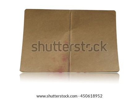 Cover old book on isolated on white background. - stock photo