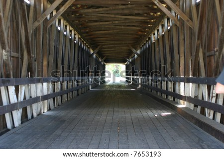 Covered bridge in Knights Ferry California - stock photo