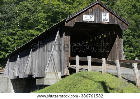 Covered bridge in the Catskills