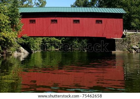 Covered Bridge - Vermont - stock photo