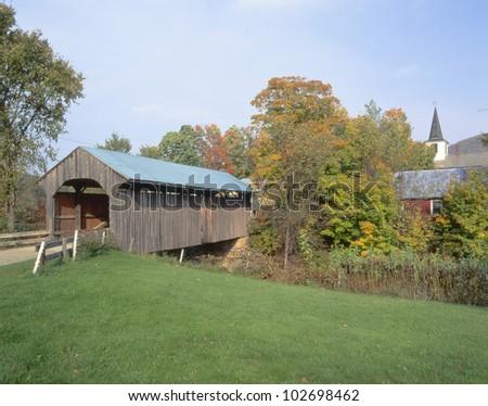 Covered Bridge, Waterville, Vermont - stock photo