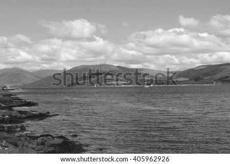 Cowal Hills in the background from Isle of Bute - Scotland
