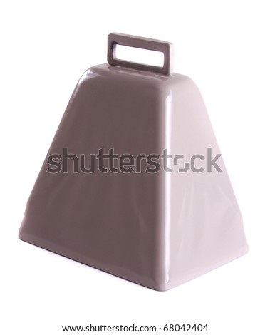 Cowbell on a white background - stock photo