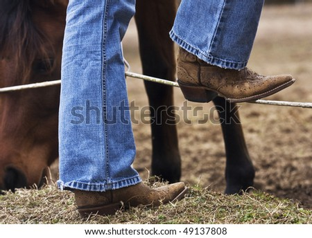 Cowboy boots - stock photo