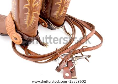 Cowboy gear - western riding equipment - stock photo