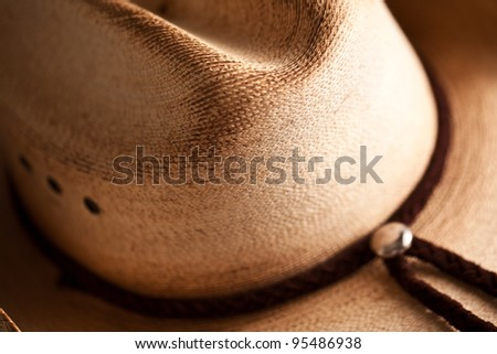 Cowboy hat detail - stock photo