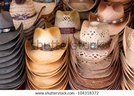Cowboy hats - stock photo