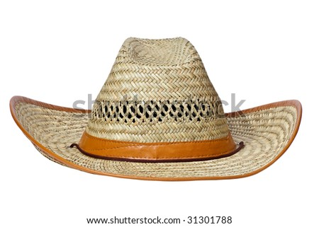 Cowboy's hat isolated on a white background - stock photo