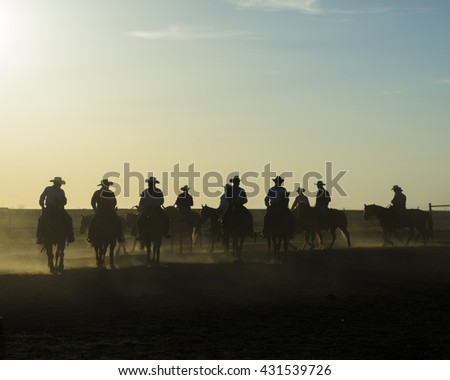 cowboys - stock photo