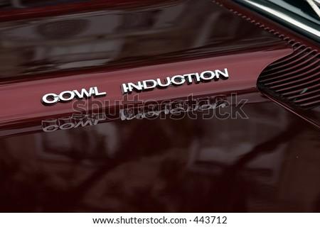 cowl induction engine hood - stock photo