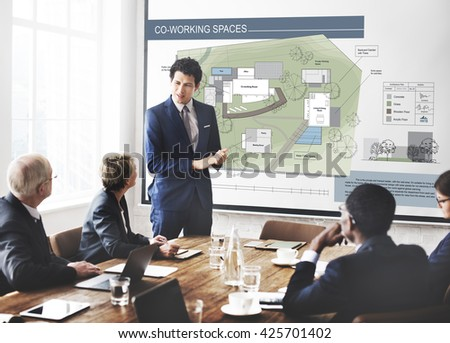 Coworking Space City Plan Mapping Concept