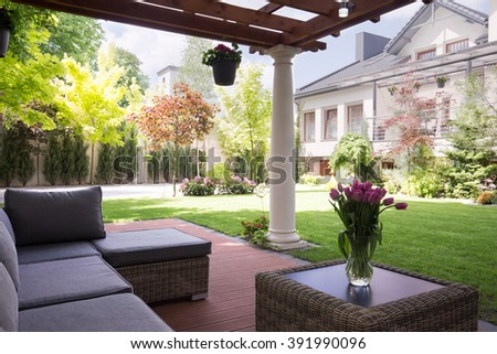 Cozy and elegant terrace of the house