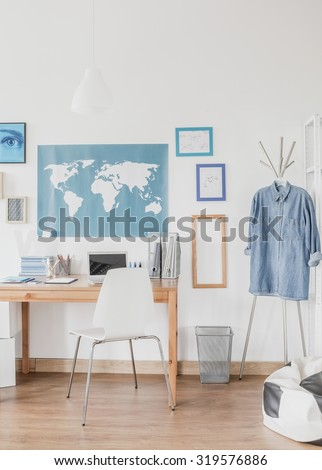 Cozy and sunny space for learning in the house  - stock photo