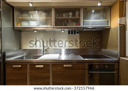 Modern Commercial Kitchen Hotel Restaurant Business Stock Photo ...