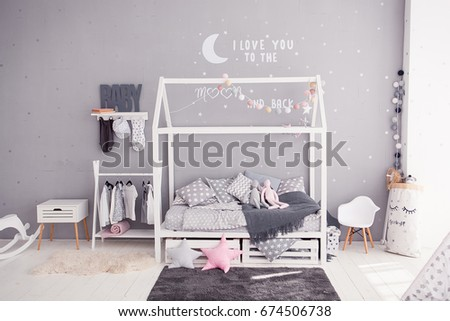 Cozy Childrens Bedroom In Scandinavian Style With Diy Accessories