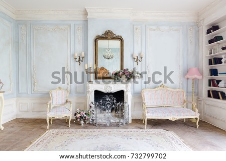 Cozy Interior Living Room Chic Beautiful Stock Photo (Royalty Free ...