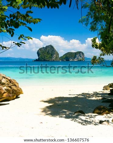 Cozy Landscape Sea Scene - stock photo