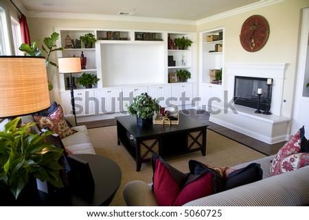 Cozy living room - stock photo