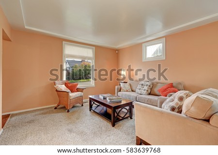 peach living room walls cozy living room interior walls stock photo royalty 13930