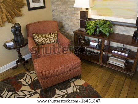Cozy lounge area in a luxury home. - stock photo