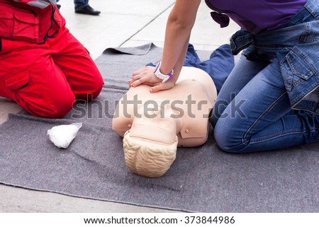 CPR. First aid. - stock photo