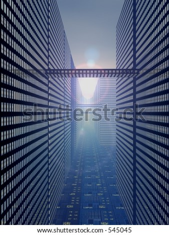 CPU City - stock photo