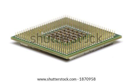 CPU Computer Chip - stock photo