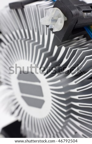 CPU fan with aluminum radiator