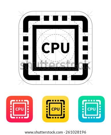 CPU icon. - stock photo