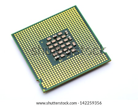 CPU isolated on white background - stock photo