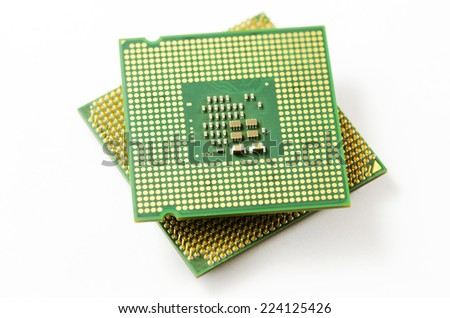 CPU isolated on white background. - stock photo