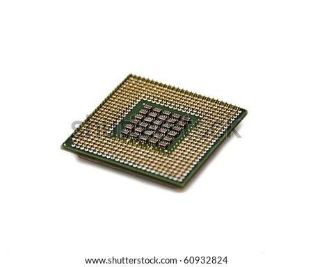 cpu on a white background isolated